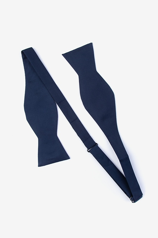 Navy Blue Self-Tie Bow Tie Photo (1)