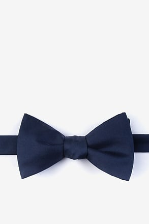 _Navy Blue Self-Tie Bow Tie_