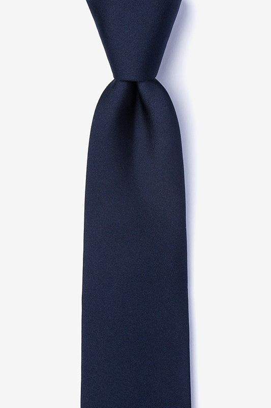 Navy Blue Tie For Boys Photo (0)