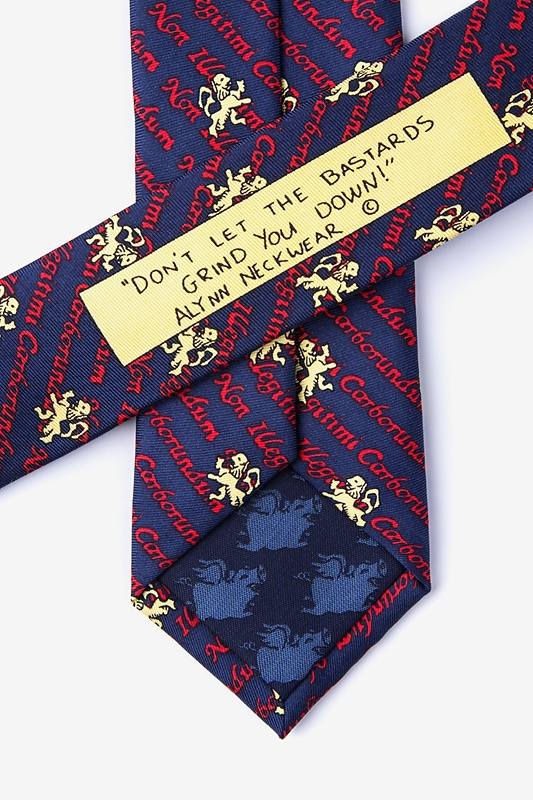 Non Illegitimi Carborundum Navy Blue Skinny Tie Photo (2)