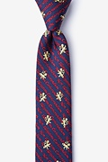 Non Illegitimi Carborundum Navy Blue Skinny Tie Photo (0)