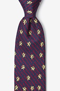 Non Illegitimi Carborundum Navy Blue Tie Photo (0)