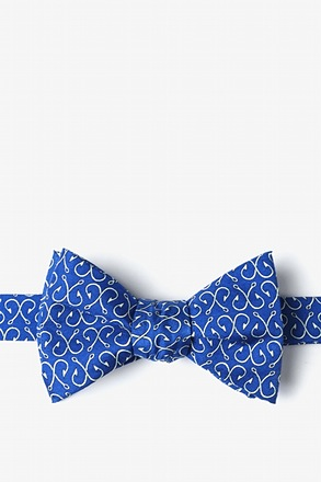 Off the Hook Navy Blue Self-Tie Bow Tie
