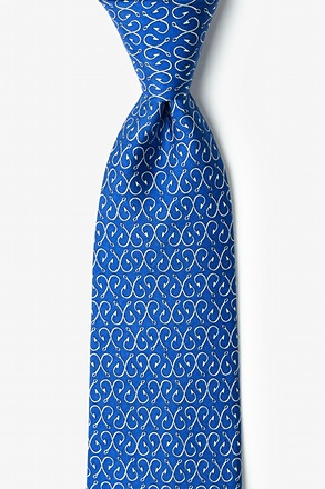 _Off the Hook Navy Blue Tie_