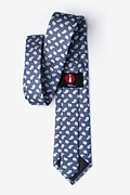 Oland Navy Blue Extra Long Tie Photo (2)