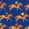 Navy Blue Silk One Horse Race Tie