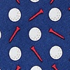 Navy Blue Silk Par-Tee Time Extra Long Tie