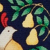 Navy Blue Silk Partridge In A Pear Tree Tie