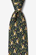 Partridge In A Pear Tree Navy Blue Tie Photo (0)