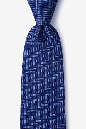 _Pearch Navy Blue Tie_