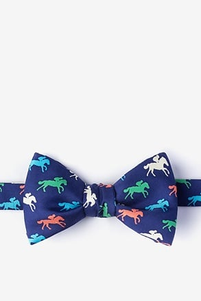 _Photo Finish Navy Blue Self-Tie Bow Tie_
