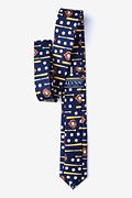 Play Ball Navy Blue Skinny Tie Photo (1)