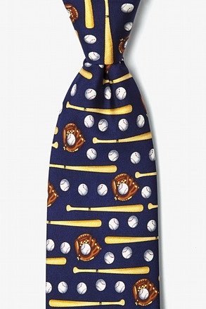 _Play Ball Navy Blue Tie_