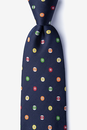 Pool Party Navy Blue Extra Long Tie