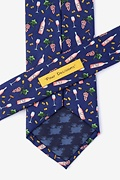 Pour Decisions Navy Blue Extra Long Tie Photo (2)