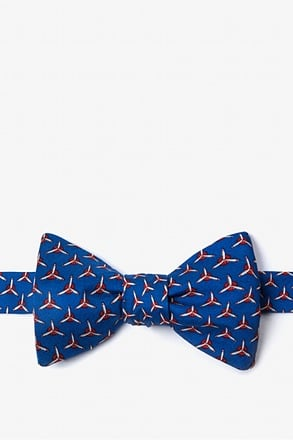 _Propellers Navy Blue Self-Tie Bow Tie_