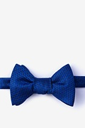 Navy Blue Silk Quartz Self-Tie Bow Tie