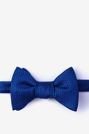Quartz Navy Blue Self-Tie Bow Tie