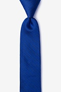 Navy Blue Silk Quartz Skinny Tie