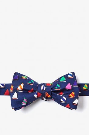 Rainbow Fleet Navy Blue Self-Tie Bow Tie