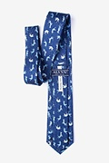Raining Cats and Dogs Navy Blue Extra Long Tie Photo (1)