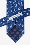Raining Cats and Dogs Navy Blue Tie Photo (2)