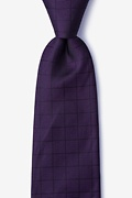 Navy Blue Silk Red Hill Extra Long Tie