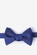 Navy Blue Silk Rene Bow Tie