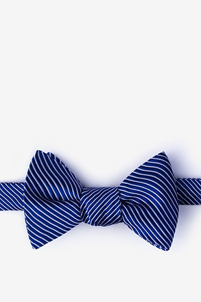 _Rene Navy Blue Self-Tie Bow Tie_