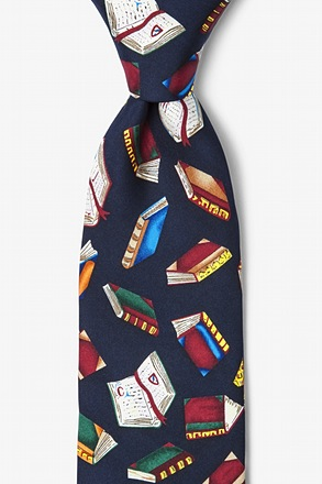 Required Reading Navy Blue Tie