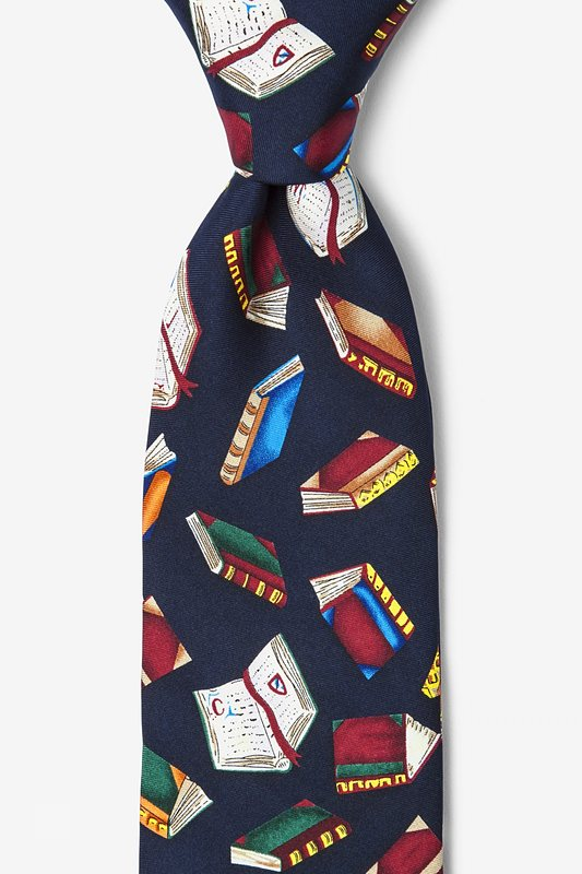 Required Reading Navy Blue Tie Photo (0)