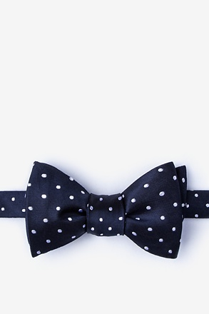 Richards Navy Blue Self-Tie Bow Tie