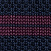 Navy Blue Silk Roman Stripe