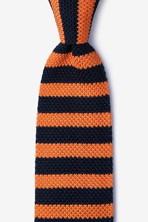 _Rugby Stripe Navy Blue Knit Tie_