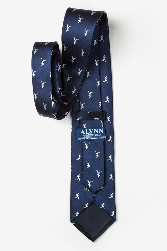 Runners Navy Blue Extra Long Tie Photo (2)