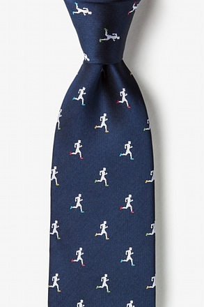 Runners Navy Blue Extra Long Tie