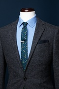 Shamrock Navy Blue Skinny Tie Photo (3)