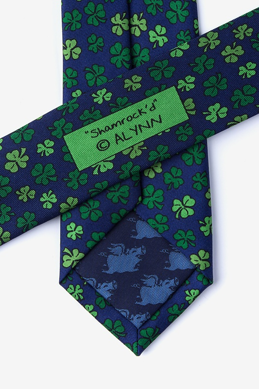 Shamrock Navy Blue Skinny Tie Photo (2)