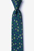 Shamrock Navy Blue Skinny Tie Photo (0)