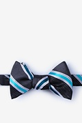 Navy Blue Silk Shannon Self-Tie Bow Tie