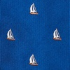 Navy Blue Silk Shipshape