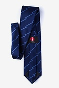 Smoky Navy Blue Extra Long Tie Photo (1)