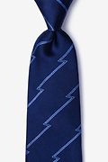 Navy Blue Silk Smoky Tie