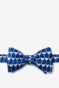 Navy Blue Silk Stack of Martinis Bow Tie