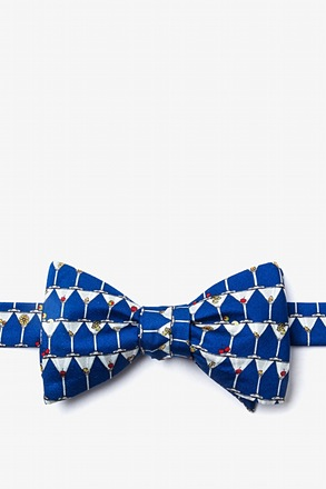 _Stack of Martinis Navy Blue Self-Tie Bow Tie_