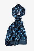 Stem Cells Navy Blue Oblong Scarf by Infectious Awareables