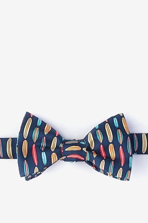 Surf's Up Navy Blue Self-Tie Bow Tie