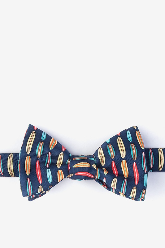Surf's Up Navy Blue Self-Tie Bow Tie Photo (0)