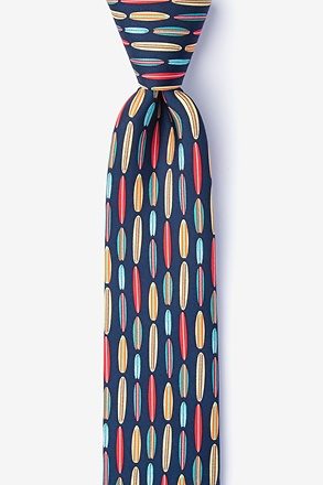 Surf's Up Navy Blue Skinny Tie