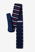 Swiss Stripe Knit Skinny Tie Photo (1)